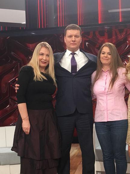С дочерью А. Серова